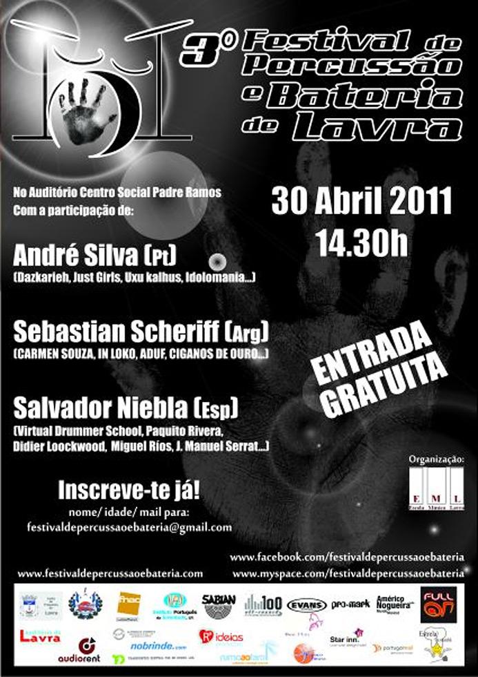3º Festival Percussão e Bateria de Lavra