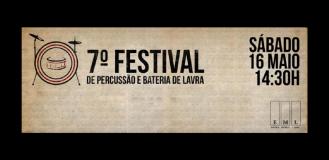 7º FESTIVAL DE PERCUSSÃO E BATERIA DE LAVRA